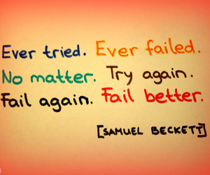 fail, try, and quote image