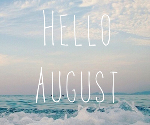 August, sea, and sunmer image