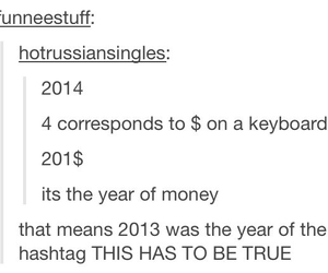 $, funny, and 2013 image