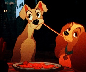 love, dogs, and disney image