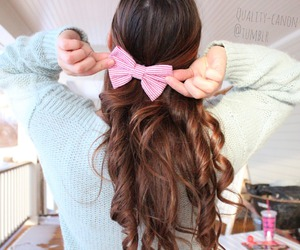 bow, hair, and tumblr image