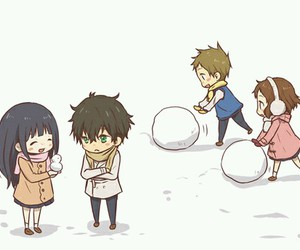 hyouka, anime, and snow image