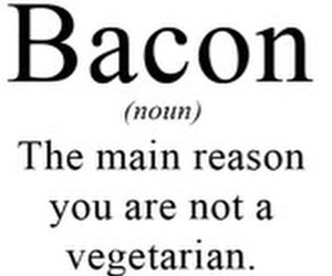 bacon, vegetarian, and food image