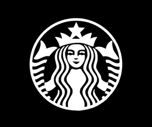 coffee, starbucks, and Logo image