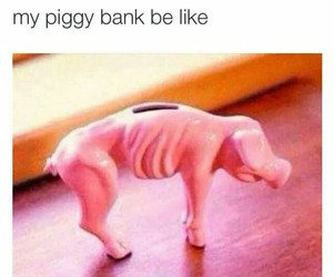 Bank, funny, and lol image
