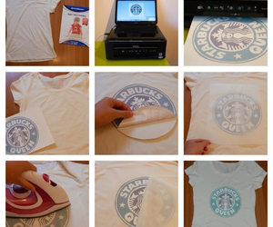 diy, starbucks, and shirt image