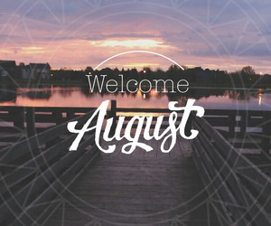 art, August, and sunset image