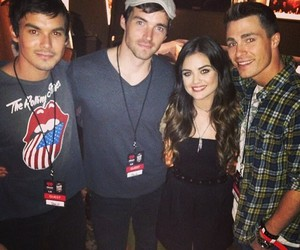 lucy hale, colton haynes, and pll image