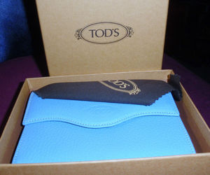 tod's, walet, and tod's blue wallet image