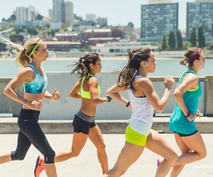 running, fitness, and fit image