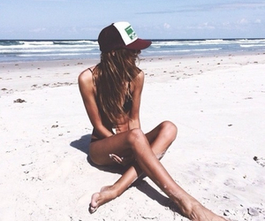 beach, ocean, and style image