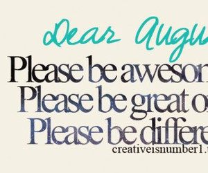 August And Awesome Image