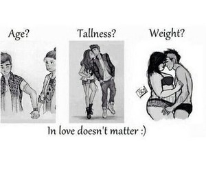 love, age, and tallness image