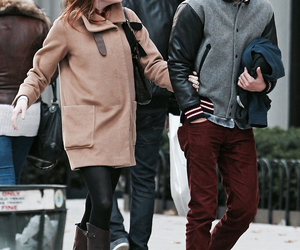 andrew garfield, emma stone, and couple image