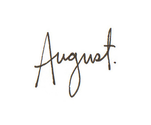 August, month, and text image