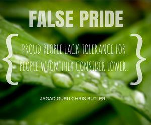 lack, false pride, and respect image