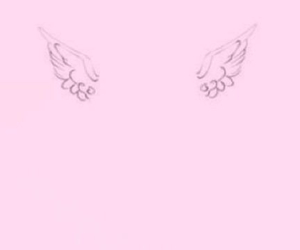 pink, ゆめかわいい, and wings image