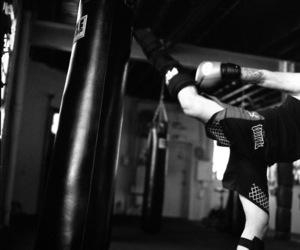 kick, kickboxing, and mma image