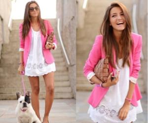 fashion, pink, and dog image