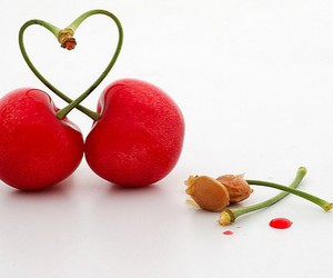 cherry, love, and heart image