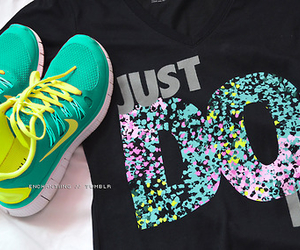 nike, fitness, and Just Do It image