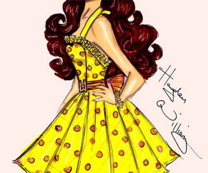 ariana grande, dress, and drawing image