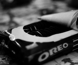 blackandwhite, cookie, and oreo image
