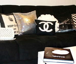 chanel, black, and home image