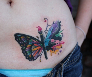 butterfly, splatter, and cool idea image