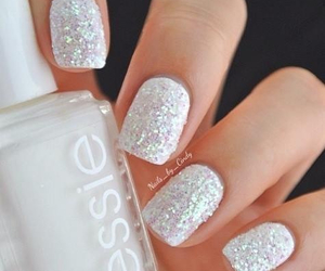 nails, white, and essie image