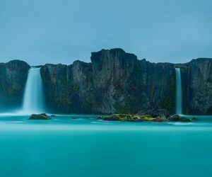 waterfall, iceland, and nature image