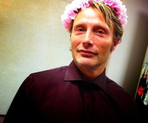 hannibal, mads mikkelsen, and flower crown image