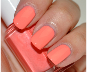 nails, essie, and coral image