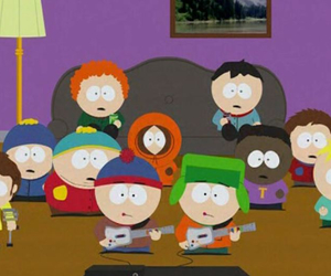 butters, cartman, and Clyde image