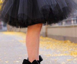 black, heels, and elegant image