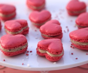 pink, heart, and macaroons image