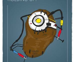 funny, gaming, and portal image