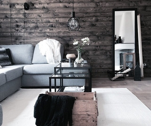 grunge, interior, and living room image