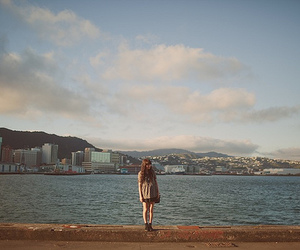 girl and ocean image