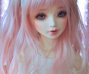 doll, kawaii, and pink image