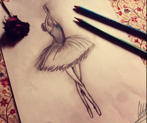 balet, ballet, and drawing image