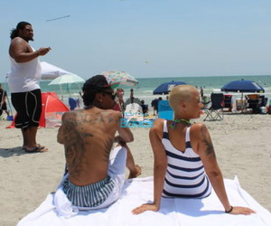 Amber Rose, couples, and beach image