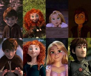 merida, rapunzel, and jack frost image