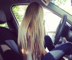 girl, blond, and blonde image