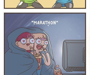 Marathon, funny, and friends image