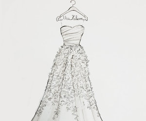 drawing, dress, and sketch image