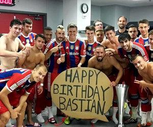 bastian schweinsteiger, bayern munchen, and happy birthday image