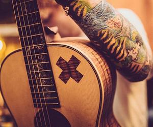 ed sheeran, guitar, and tattoo image