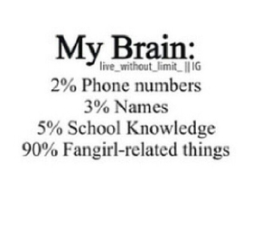 fangirl, brain, and funny image