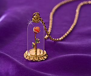 necklace, disney, and beauty and the beast image